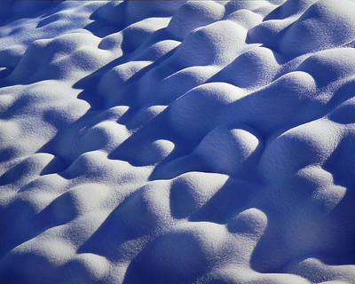 Title: Snow Covered River Stones, Wyoming , Size: 30 x 40 inches , Medium: Cibachrome Photograph , Signed: L/R