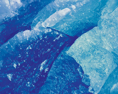 Title: Blue Glacial Ice, Alaska , Size: 30 x 30 inches , Medium: Cibachrome Photograph , Signed: Signed , Edition: #37