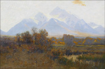 Title: Mt Princeton Near Nathrop , Date: 1910-1915 , Size: 24 x 36 inches , Medium: Oil on Canvas , Signed: L/L , Edition: Original