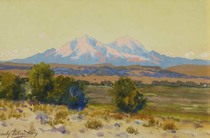 Title: Spanish Peak , Date: 1910 , Size: 9 x 14 inches , Medium: Watercolor , Signed: L/L , Edition: Original