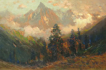 Title: Mt. Sneffels , Date: c. 1910 , Size: 16 x 24 inches , Medium: Oil on Canvas , Signed: L/L
