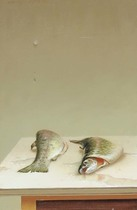 Title: Trout , Date: 1991 , Size: 14 x 9 inches , Medium: Oil on Panel , Signed: Signed