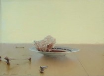 Title: Goose Blood , Date: 2009 , Size: 12 x 16 inches , Medium: Oil on Panel , Signed: L/L