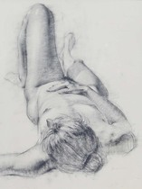 Title: Nude , Date: 1999 , Size: 26 x 20 inches , Medium: Charcoal , Signed: L/L