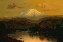 Title: Mt. Hood Sunset , Size: 12 x 18 inches , Medium: Oil on Canvas , Signed: L/R