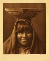 Title:   Plate 046   Pima Matron , Date: 1907 , Size: Portfolio, 22 x 18 inches , Medium: Vintage Photogravure , Edition: Vintage