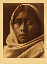 Title:   Plate 048   Papago Girl , Date: 1907 , Size: Portfolio, 22 x 18 inches , Medium: Vintage Photogravure , Edition: Vintage