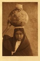 Title: Plate 054  Qahatika Water Girl , Date: 1907 , Size: Portfolio, 22 x 18 inches , Medium: Vintage Photogravure , Edition: Vintage
