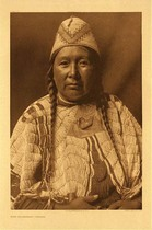 Title: Plate 221 Wife of Mnainak - Yakima , Date: 1910 , Size: Portfolio, 22 x 18 inches , Medium: Vintage Photogravure , Edition: Vintage