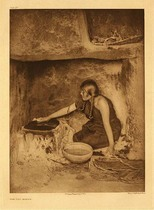 Title:   Plate 432 The Piki Maker , Date: 1906 , Size: Portfolio, 22 x 18 inches , Medium: Vintage Photogravure , Edition: Vintage