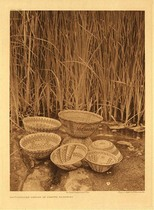Title:   Plate 500 Rattlesnake Design in Yokuts Basketry , Date: 1924 , Size: Portfolio, 22 x 18 inches , Medium: Vintage Photogravure , Edition: Vintage