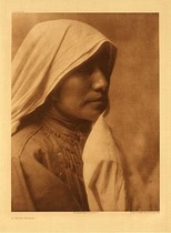 Title:   Plate 548 A Taos Woman , Date: 1905 , Size: Portfolio, 22 x 18 inches , Medium: Vintage Photogravure , Edition: Vintage