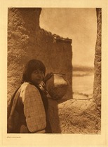 Title:   Plate 555 Timu - Cochiti , Date: 1925 , Size: Portfolio, 22 x 18 inches , Medium: Vintage Photogravure , Edition: Vintage