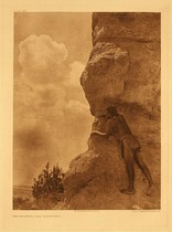 Title:   Plate 580 The Sentinel - San Ildefonso , Date: 1925 , Size: Portfolio, 22 x 18 inches , Medium: Vintage Photogravure , Edition: Vintage