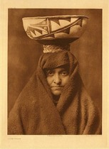 Title: Plate 614  A Zuni Woman , Date: 1903 , Size: Portfolio, 22 x 18 inches , Medium: Vintage Photogravure , Edition: Vintge