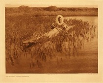 Title:   Plate 714  The Muskrat Hunter - Kotzebue , Date: 1928 , Size: Portfolio, 18 x 22 inches , Medium: Vintage Photogravure , Edition: Vintage