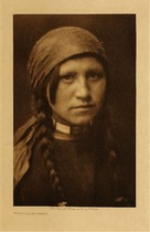 Title: Komitsa - Kutenai , Date: 1910 , Size: Volume, 12.5 x 9.5 inches , Medium: Vintage Photogravure , Edition: Vintage