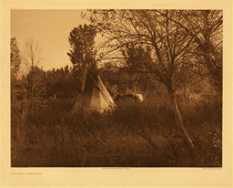 Title:   Plate 130  Autumn - Apsaroke , Date: 1908 , Size: Portfolio, 18 x 22 inches , Medium: Vintage Photogravure , Edition: Vintage