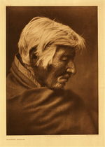 Title: Plate 226 Klickitat Profile , Date: 1910 , Size: Portfolio: 22 x 18 inches , Medium: Vintage Photogravure , Edition: Vintage