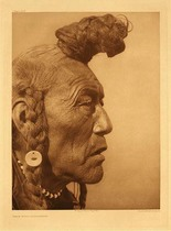 Title:   Plate 640 Bear Bull - Blackfoot , Date: 1927 , Size: Portfolio, 22 x 18 inches , Medium: Vintage Photogravure , Edition: Vintage