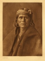 Title:   Plate 424 A Walpi Man , Date: 1904 , Size: Portfolio, 22 x 18 inches , Medium: Vintage Photogravure , Edition: Vintage