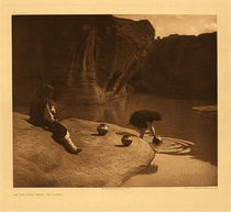 Title: Plate 571 At the Old Well of Acoma , Date: 1904 , Size: Portfolio: 18 x 22 inches , Medium: Vintage Photogravure