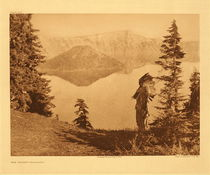 Title:   Plate 470 The Chief - Klamath , Date: 1923 , Size: Portfolio, 18 x 22 inches , Medium: Vintage Photogravure , Edition: Vintage