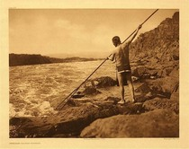 Title:   Plate 276 Spearing Salmon - Wishham, 1909 , Size: Portfolio, 18 x 22 inches , Medium: Vintage Photogravure , Edition: Vintage