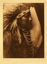 Title:   Plate 263 Nez Perce Brave , Size: Portfolio, 22 x 18 inches , Medium: Vintage Photogravure , Edition: Vintage
