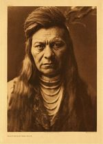 Title:   Plate 265 - Black Eagle - Nez Perce , Date: 1905 , Size: Portfolio, 22 x 18 inches , Medium: Vintage Photogravure , Edition: Vintage