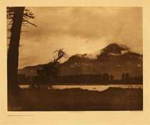 Title:   Plate 287 Evening on the Columbia , Date: 1910 , Size: Portfolio, 18 x 22 inches , Medium: Vintage Photogravure , Edition: Vintage