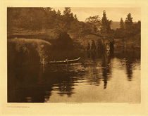 Title:   Plate 289 On Klickitat River (a) , Date: 1910 , Size: Portfolio, 18 x 22 inches , Medium: Vintage Photogravure , Edition: Vintage