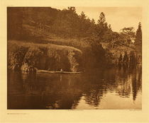 Title:   Plate 291 On Klickitat River , Date: 1910 , Size: Portfolio, 18 x 22 inches , Medium: Vintage Photogravure , Edition: Vintage