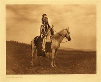 Title: Plate 271 A War Chief - Nez Perce , Date: 1905 , Size: Portfolio, 18 x 22 inches , Medium: Vintage Photogravure , Edition: Vintage