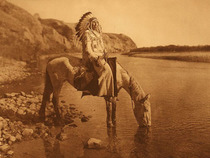 Title: Plate 644 Bow River - Blackfoot , Date: 1926 , Size: Portfolio, 18 x 22 inches , Medium: Vintage Photogravure , Edition: Vintage