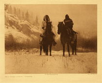 Edward S. Curtis - Plate 129 For A Winter Campaign