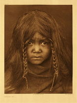 Title: Plate 303 Quilcene Boy , Date: 1905 , Size: Portfolio, 22 x 18 inches , Medium: Vintage Photogravure , Edition: Vintage