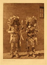 Title:   Plate 600 Tesuque Buffalo Dancers , Date: 1925 , Size: Portfolio, 22 x 18 inches , Medium: Vintage Photogravure , Edition: Vintage
