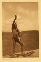 Title:   Plate 109 Invocation - Sioux , Date: 1907 , Size: Portfolio, 18 x 22 inches , Medium: Vintage Photogravure , Edition: Vintage