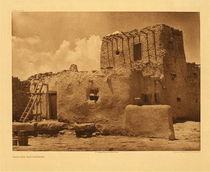 Title:   Plate 579 Paguate Watchtower , Date: 1925 , Size: Portfolio, 18 x 22 inches , Medium: Vintage Photogravure , Edition: Vintage