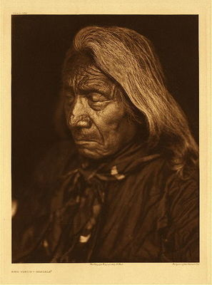 Title:   Plate 103 Red Cloud - Ogalala , Date: 1905 , Size: Portfolio, 22 x 18 inches , Medium: Vibtage Photogravure , Edition: Vintage