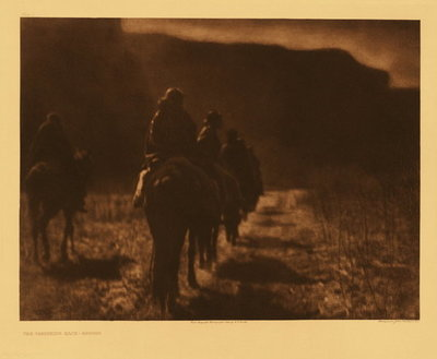Title:   Plate 001 The Vanishing Race - Navaho , Date: 1904 , Size: Portfolio, 18 x 22 inches , Medium: Vintage Photogravure , Edition: Vintage