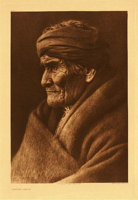 Title:   Plate 002 Geronimo - Apache , Date: 1907 , Size: Portfolio, 22 x 18 inches , Medium: Vintage Photogravure , Edition: Vintage