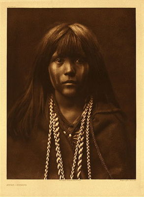 Title:   Plate 061 Mosa - Mohave , Date: 1903 , Size: Portfolio, 22 x 18 inches , Medium: Vintage Photogravure , Edition: Vintage