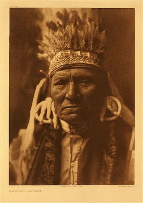 Title:   Plate 257 Yellow Bull - Nez Perce , Date: 1903 , Size: Portfolio, 22 x 18 inches , Medium: Vintage Photogravure , Edition: Vintage