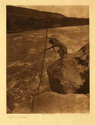 Title:   Plate 274 Wishham Fisherman , Date: 1909 , Size: Portfolio, 22 x 18 inches , Medium: Vintage Photogravure , Edition: Vintage