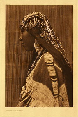 Title:   Plate 279 Wishham Girl, Profile , Date: 1910 , Size: Portfolio, 22 x 18 inches , Medium: Vintage Photogravure , Edition: Vintage