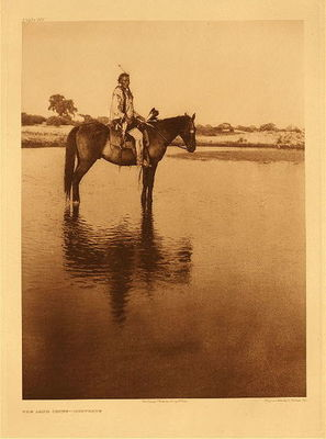 Title: Plate 665 The Lone Chief , Date: 1927 , Size: Portfolio, 22 x 18 inches , Medium: Vintage Photogravure