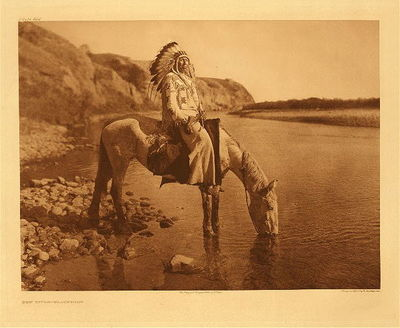 Title:   Plate 644  Bow River - Blackfoot , Date: 1926 , Size: Portfolio, 18 x 22 inches , Medium: Vintage Photogravure