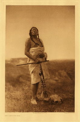 Title:   Plate 076  The Medicine-Man , Date: 1907 , Size: Portfolio, 22 x 18 inches , Medium: Vintage Photogravure